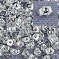 Оптовая продажа, 1000 шт., Подлинная тонкая 925 пробы, серебряные ювелирные изделия, задняя пробка для шпильки, Ювелирное Украшение, 925 штампован...