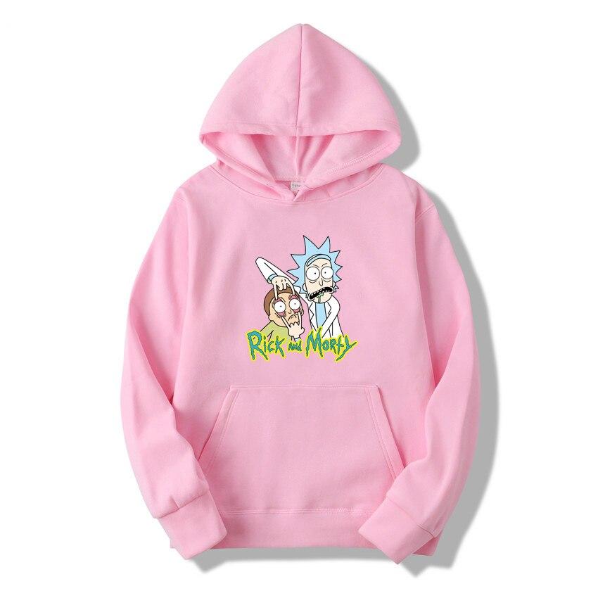 2019 Autum New Design Rick And Morty Mens Hoodies Cotton Funny Print Hoodie Man Fashion Rick Morty Casual Hoodie Sweatshirt