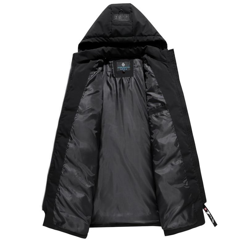 Распродажа 2019, ветронепроницаемая Хлопковая мужская длинная куртка, большой размер, зимнее пальто, толстая свободная парка, новая Толстая теплая ветровка - 2