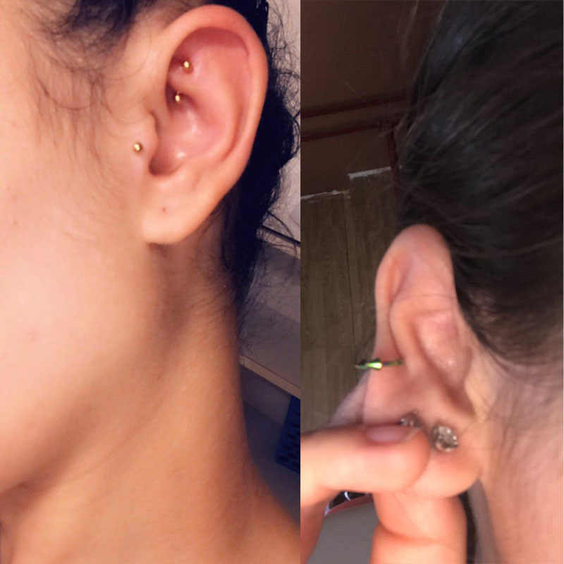30PCS ขายส่งเหล็ก Labret Lip Piercing แหวนหูกระดูกอ่อน Helix Tragus ต่างหู Ombligo เซ็กซี่เครื่องประดับ Basic