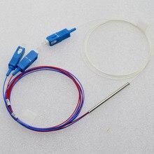 цена на 20pcs New 0.9mm Single Mode Mini Optic Fiber Splitter 1x2 SC/UPC 40:60 Fiber Optic Splitter Special Wholesale Free Shipping