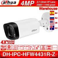 Dahua IPC-HFW4431R-Z 4MP caméra de nuit 60m IR 2.7 ~ 12mm VF objectif Zoom Auto Focus 80M IR balle H.265 POE caméra IP CCTV sécurité