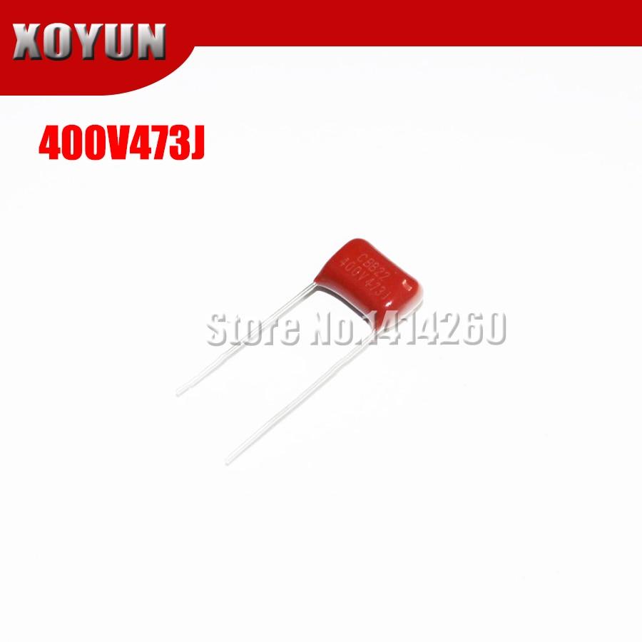 10PCS CBB22 400V473J 0.047UF 47NF Pitch 10MM 400V 473J CBB Polypropylene Film Capacitor