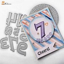 Kokorosa Cutting Dies Metal Number Alphabet Die Scrapbooking Album Card Making Embossing Stencil Decor Diecuts