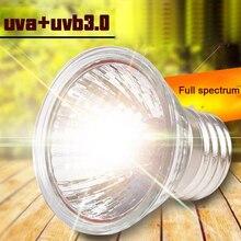 Lámpara para reptiles de 25/50/75W UVA + UVB 3,0, Bombilla de tortuga, bombillas de luz ultravioleta, lámpara de calentamiento, controlador de temperatura de anfibios lagartos
