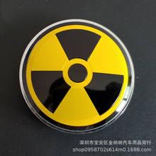 4x60mm radioaktywnych ostrzeżenie środek koła samochodowego kołpaki emblematy kalkomania