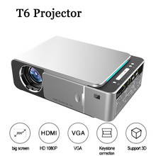 T6 Proyector Full HD Led Mini Projector 4k 3500 Lum HDMI USB 1080p Video Projecteur Wifi Android Portable Home Theater Projetor
