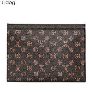 Image 5 - Tidog sac à main pour hommes, sac classique business décontracté, pochette pour IPAD
