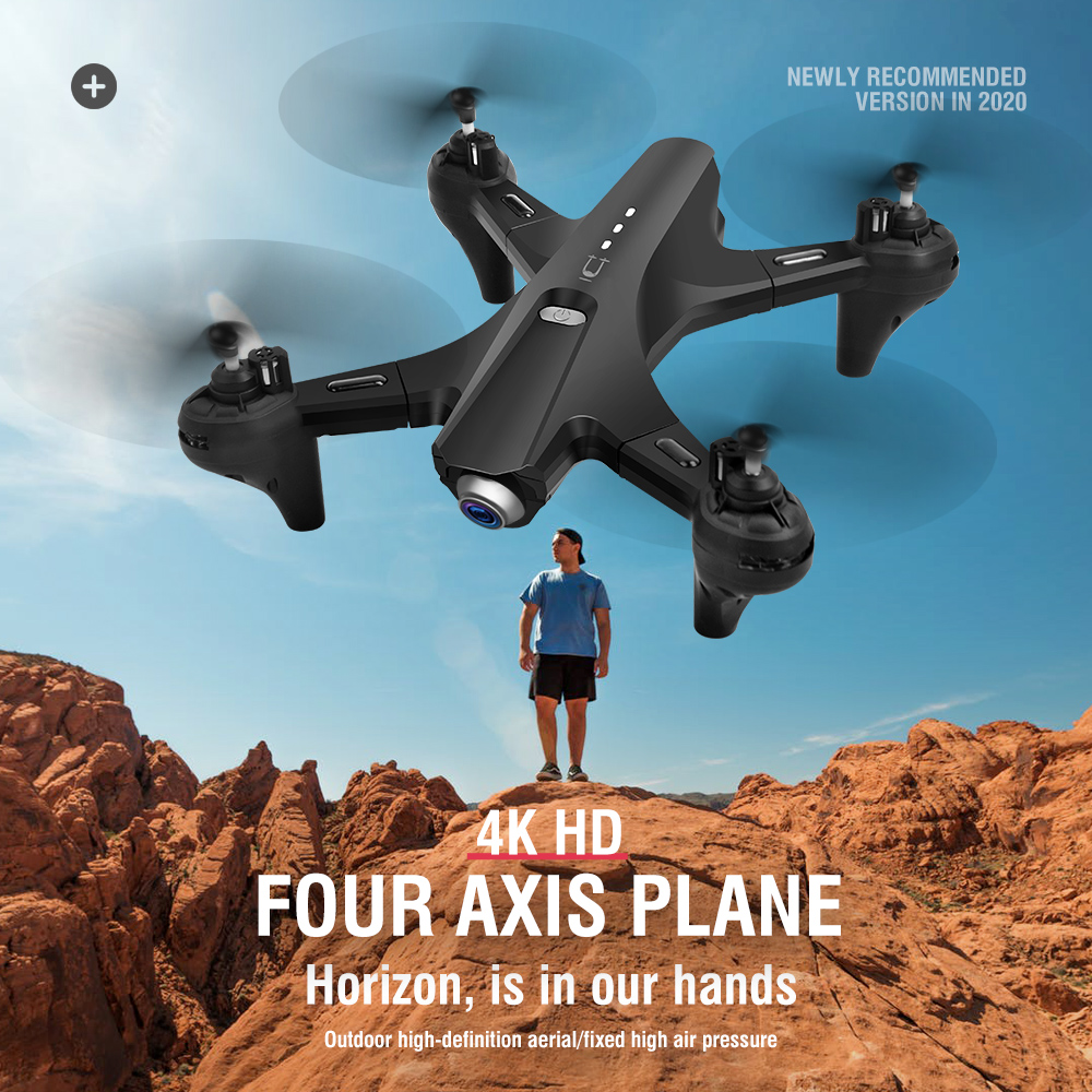 LS-UTU Drone 4K Foldable FPV Drones With Camera HD WIFI Double Cameras Quadcopter RC Dron Altitude Hold Mode Drone Professional