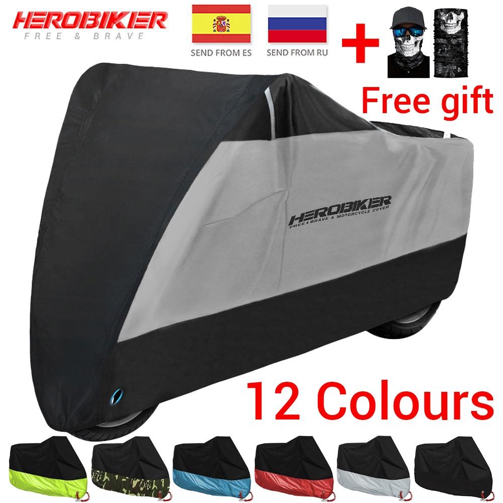 HEROBIKER nouvelle Moto couverture vélo toute saison étanche à la poussière UV protection extérieure Moto Scooter Moto couverture de pluie