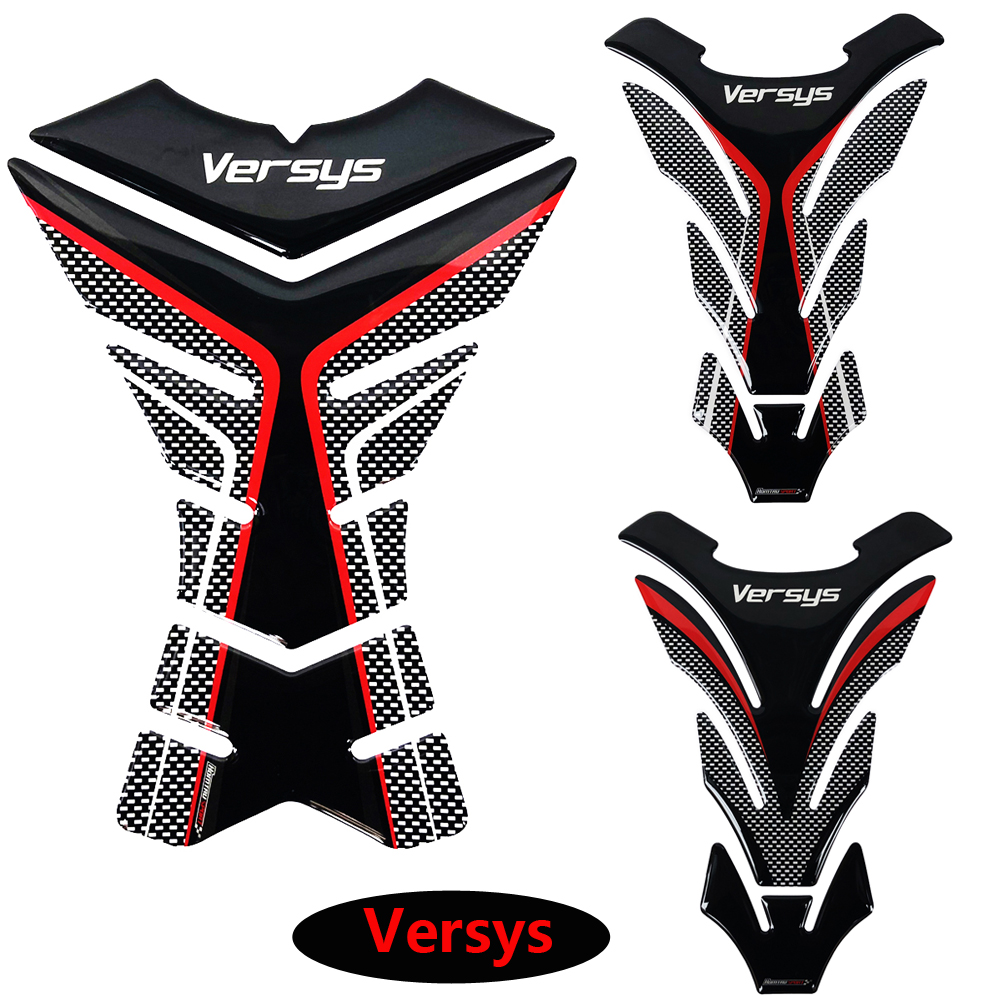 3D Motorcycle Tank Pad Protector Decal Stickers Case for Kawasaki Versys 650 <font><b>1000</b></font> X300 Versys-X Tank image