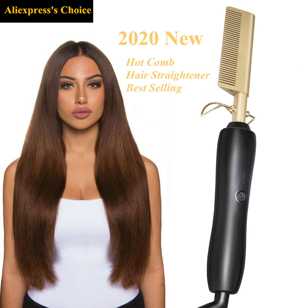 Hot Comb Brush Hair Curler Hair Straightener And Curler Pro 2 In 1 Twist Hair Curling & Straightening Iron Hair Straightener
