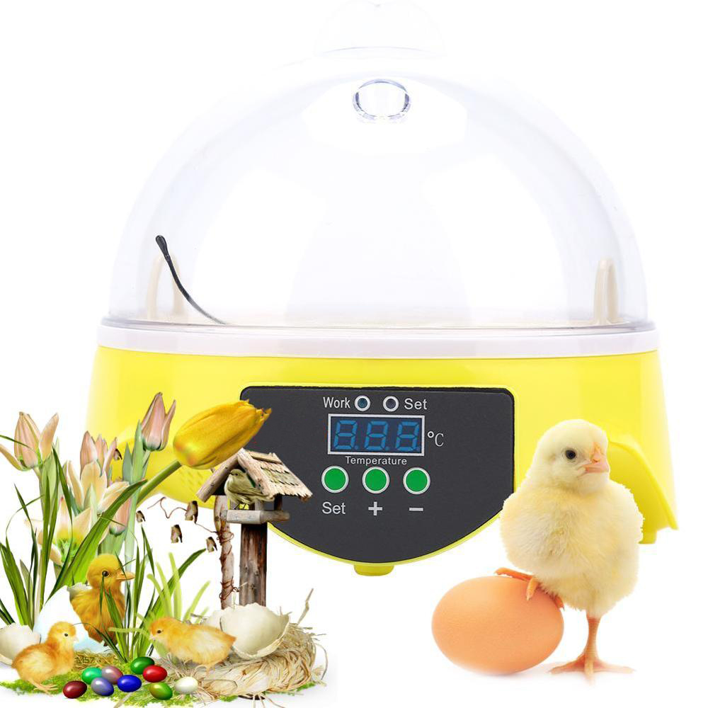 Mini Egg Incubator 7 Eggs Capacity Chicken Duck Egg Hatcher Electronic Automatic Incubator Brooder Tools 110V 220V