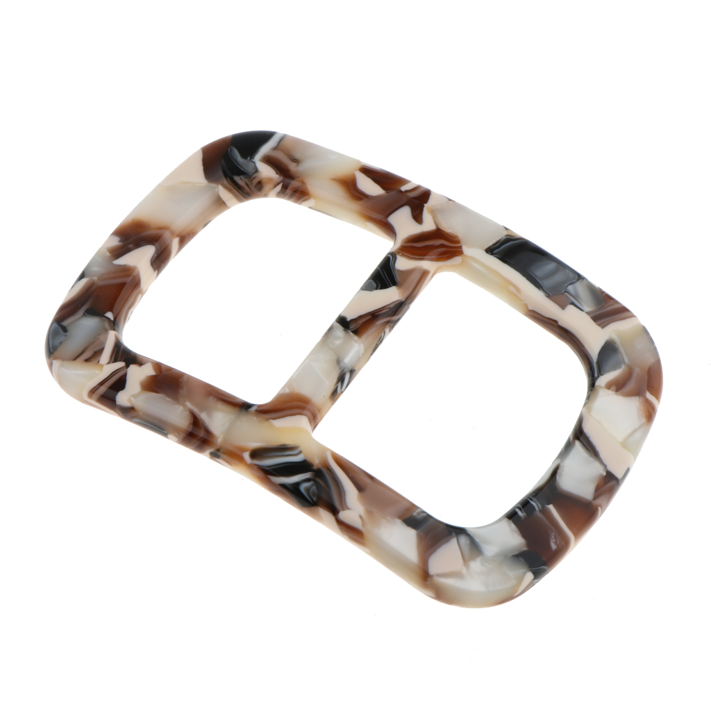 Vintage Leopard Scarf Ring Simple Geometric Design Scarf Buckle Slides
