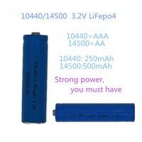 Batterie AA AAA ricaricabili 3.2V LiFePo4 10440 14500 con caricabatterie intelligente a 2 Slot caricabatterie intelligente per fotocamere