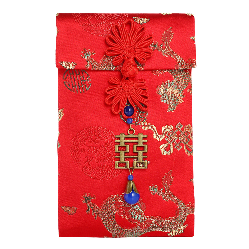 2020 Traditional Spring Festival Thickened Tassel Money Pocket Wedding Birthday Red Envelopes Chinese New Year Housewarming