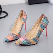 High heel pumps big size 42 stiletto shoes for women pointed
