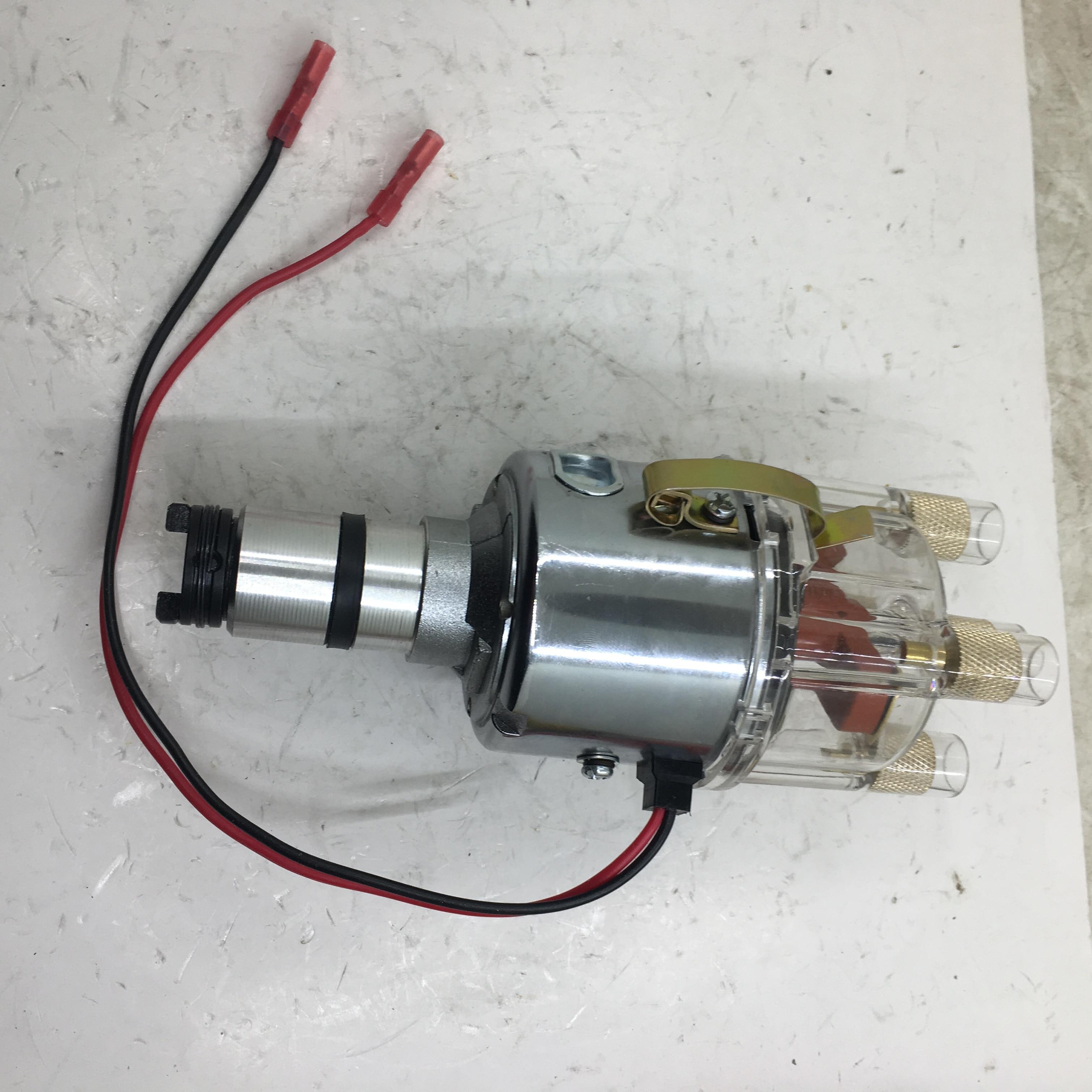 SherryBerg distributeur centrifuge électrique complet pour EMPI 9428 CHROME 009 courbe de STOCK pour VW BUG GHIA chose BUS bouchon transparent