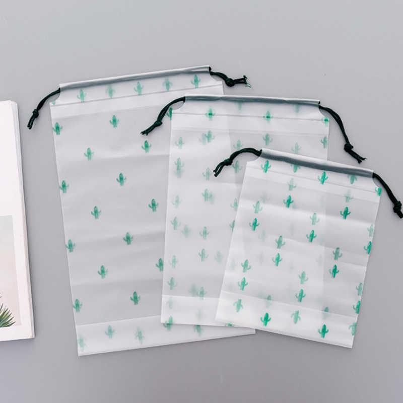 Cactus Trasparente Delle Donne Del Sacchetto Cosmetico Make Up Dell'organizzatore di Immagazzinaggio Delle Signore di Sacchetto Cosmetico Per Il Make-Up Clear Custodia Da Viaggio di Cortesia