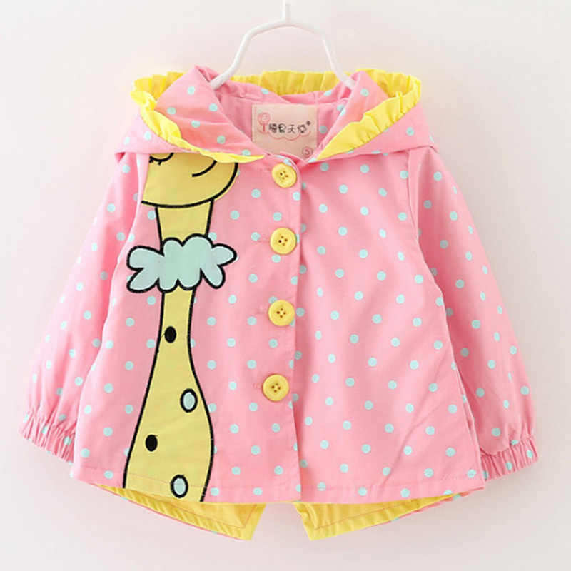 Mayfair Cabin Girls Coat Baby Clothes cartoon Coats dot hooded Children Outerwear&Coats Fashion baby girl coats Jackets clothing