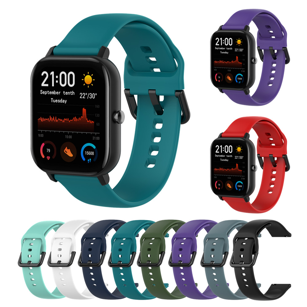 Silicone Bracelet For Amazfit Gts Bip Gtr 42mm Wrist Strap For Vivoactive3 Forerunner645 245 For Huawei Watch2 Smart Watch Band