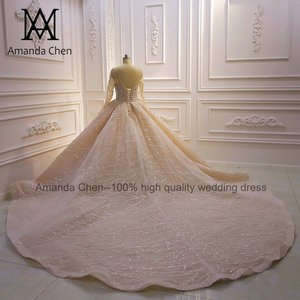 Image 4 - Vestito da sposa robe de mariée luxueuse à manches longues, sur mesure