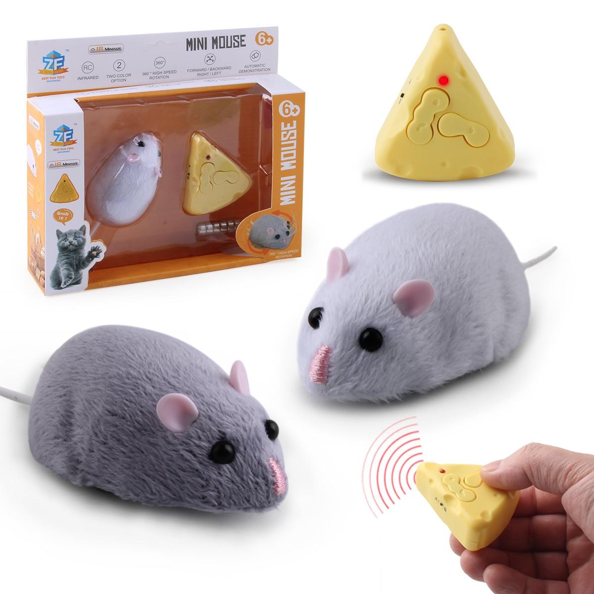 Горячая Распродажа, беспроводная мышь с дистанционным управлением, пушистая электронная мышь, игрушки для эмуляции крысы для кошек, собак, ...