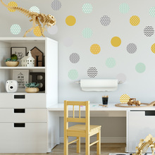 Self-adhesive PVC Wallpaper Confetti Polka Dot Wall Sticker Removeable Decal Kids Room wall decals, removable wall decals high quality polka dot shape removeable diy 3d background mirror wall sticker