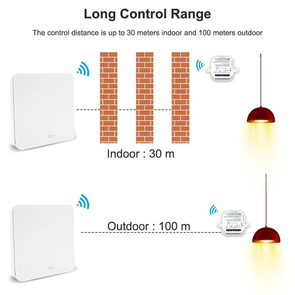 Drahtlose Schalter Fernbedienung licht kinetische Self Powered RF 433 taster wand panel Keine Kabel Benötigt Einfache Installation