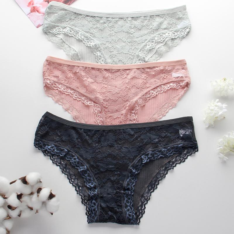 Sexy Women Lace Briefs Seamless Underwear Female Fashion Cotton Panties Breathable Underpants Women's Intimates Comfort Lingerie