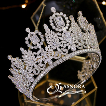 Tiara Jewelry Headdress Crystal-Crown Bride Wedding Miss-Universe Luxury CZ Parade Does