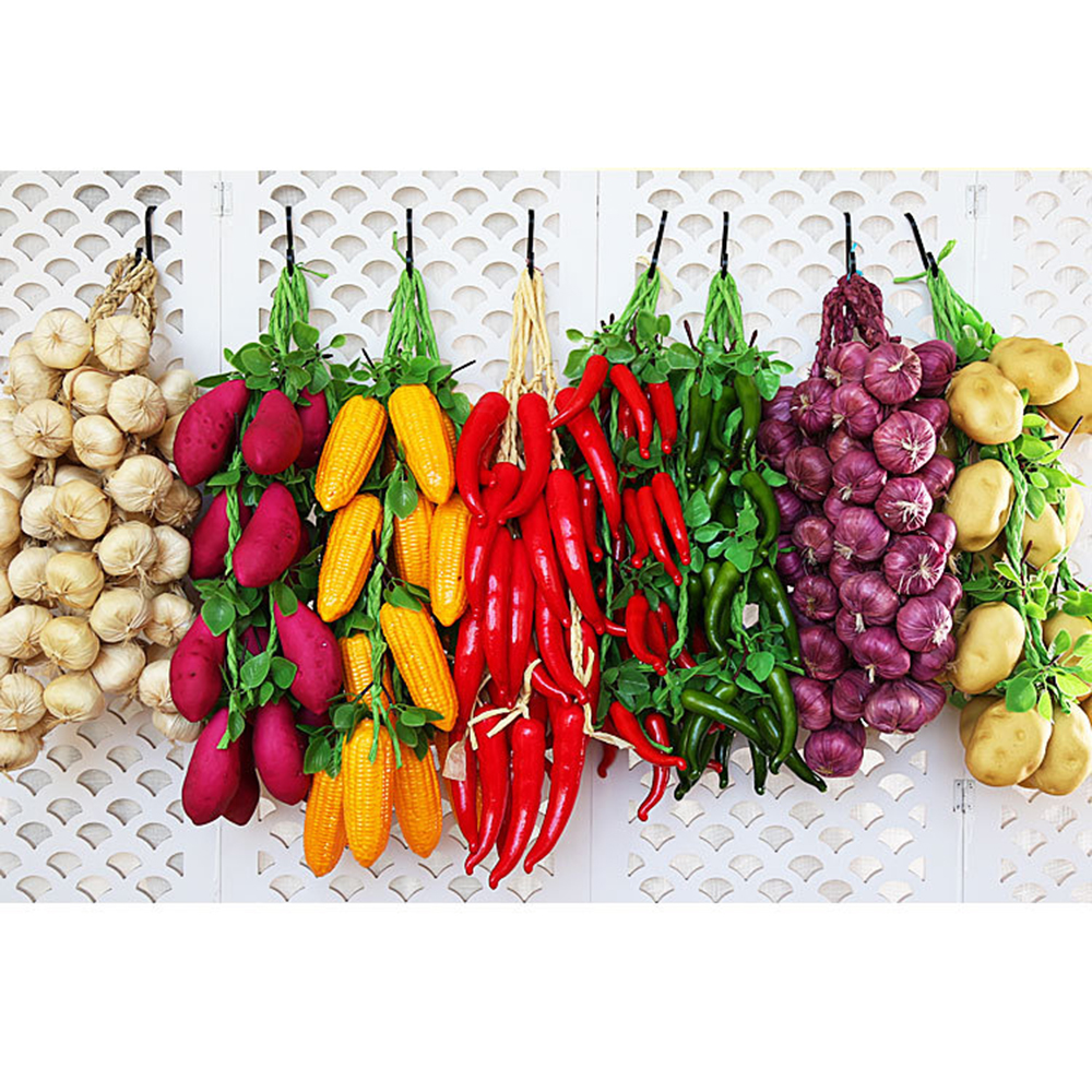 Artificial Simulation Food Vegetables Fruit PU Red Pepper Fake Lemon Vegetables For Home Restaurant Kitchen Garden Art Decor Pro