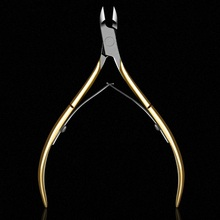 FlorVida 1 PC Gold Color Stainless Steel Nail Cuticle Nipper Dead Skin Remover Tool Cuticle Scissor Manicure Nail Art Tool