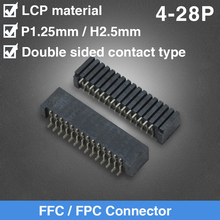 1.25mm Pitch FFC/FPC Connector SMD Double Side Type  4 5 6 7 8 9 10 11 12 14 15 16 18 20 26 27 28 Pin nlw t1b613 14 16 18 20