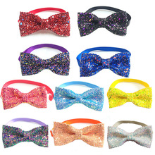 30/50pcs New Arrival Shiny Crystal Dog Bow Ties Necktie Collar Bow Tie Small Medium Dog Neckties Dog Grooming Pet Acessories