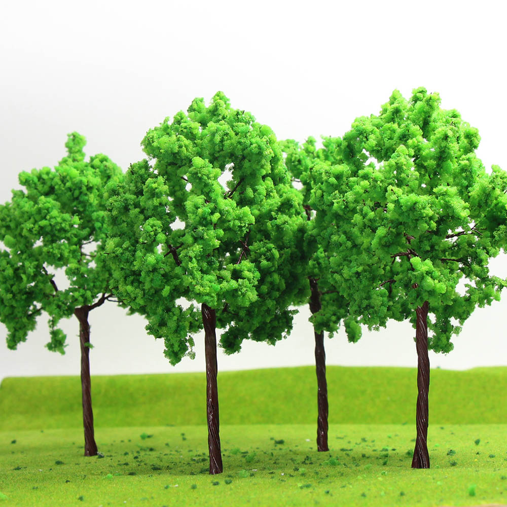 50 Dark Green Tree Model Train Railroad Architecture Garden Layout 1//500 3cm
