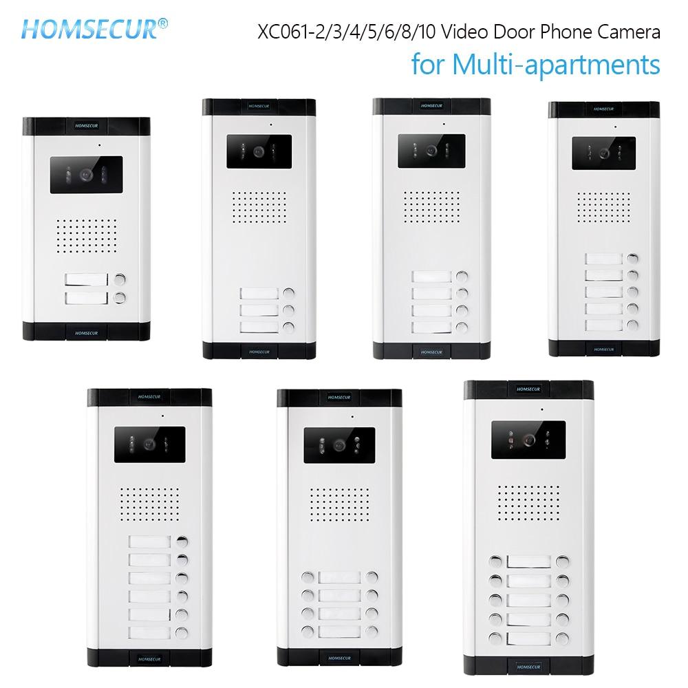 HOMSECUR 520C/XC061 Series Outdoor Camera 700TVLine IR Night Vision For Multi-apartments Video Door Intercom System