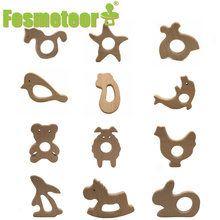 Fosmeteor 10pc Baby Teether Beech Pacifier Pendant BPA Free Wood Rodent Animal Teething Necklace Children's Good Nurse Gift
