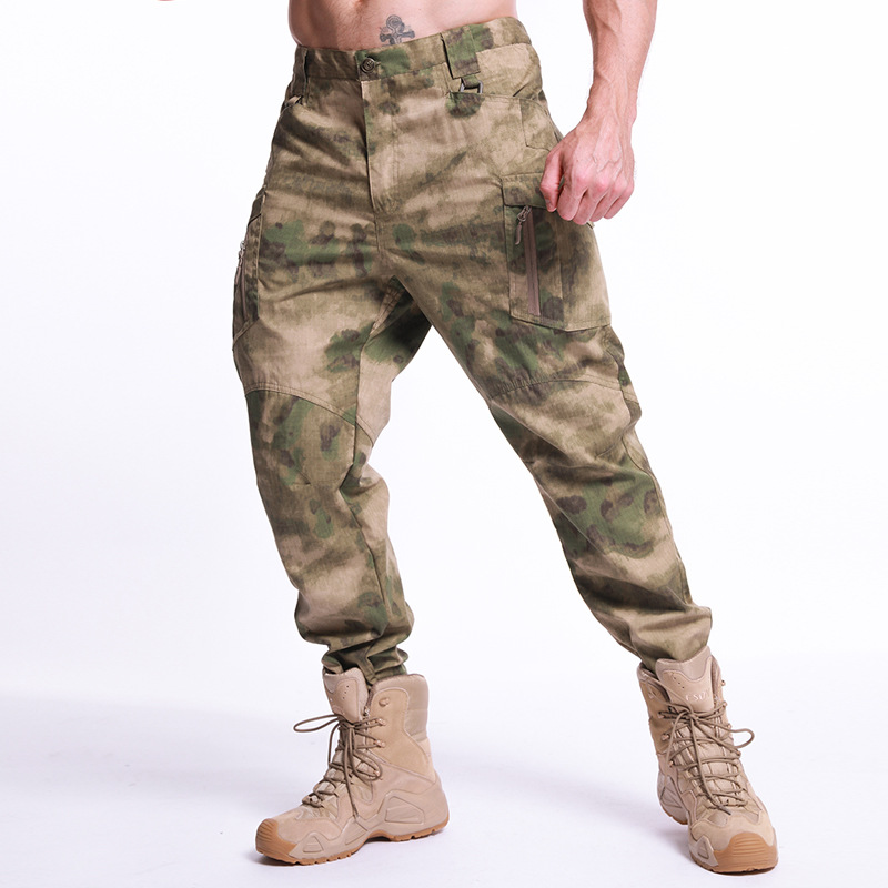 IX9 Camouflage Tactical Pants Men Rip-Stop Waterproof Military Pants Tide Army Combat Cargo Pants Pockets Camo Work Trousers 5XL