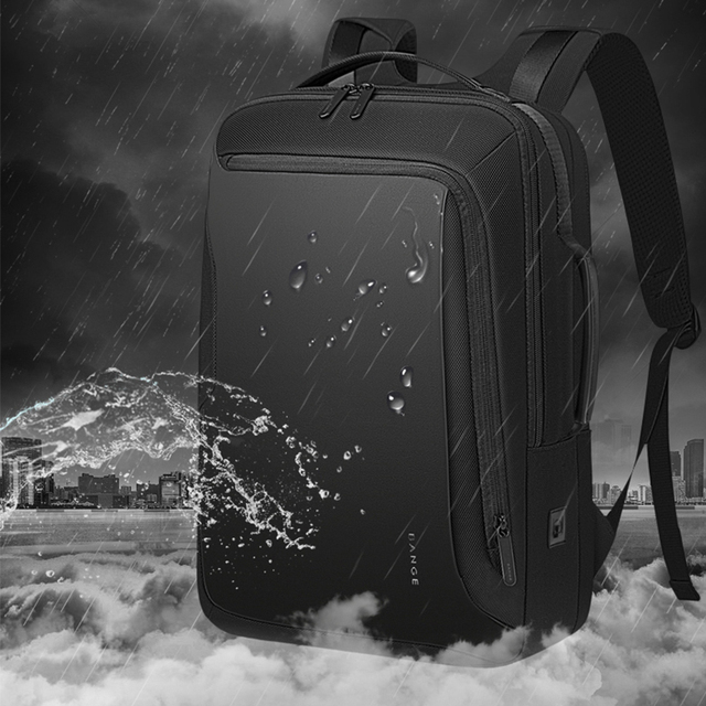 Bange 15.6 inch Laptop Backpack For Men Water Repellent Functional Rucksack with USB Charging Port Travel Backpacks Male 4