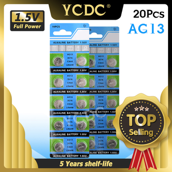 YCDC 20pcs AG13 +Lowest Price+1.5VBattery LR44 L1154 RW82 RW42 SR1154 SP76 A76 357A ag13 SR44 AG 13 Lithium Cell Coin Battery image