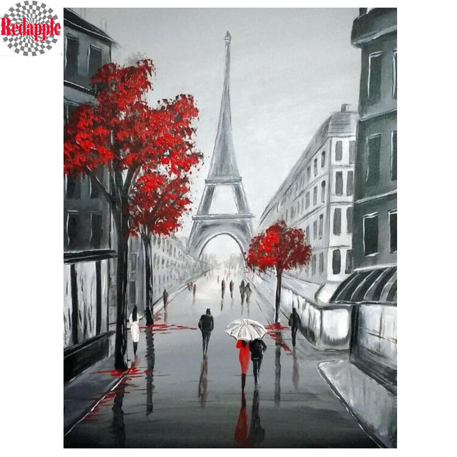 London City DIY 5D Diamond Painting Embroidery DIY Paint by Number Kit Home Wall Decoration 25x35cm