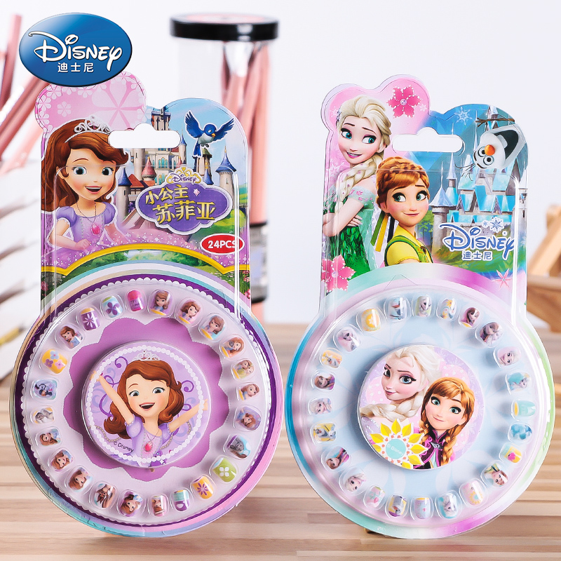 Disney Frozen Makeup Nail Stickers Elsa Anna Sofia Girl Toys For Kids Disney Princess Sticker Girls Accessories Jewelry Kids