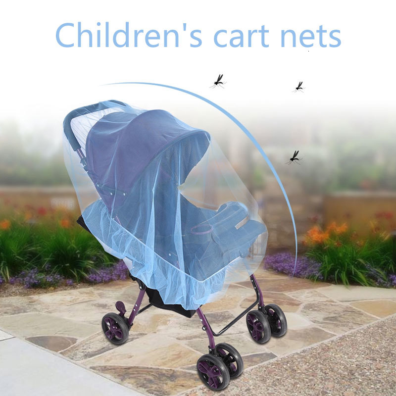 Carriage Mosquito Net Trolley Mosquito Net Baby Mosquito Net Polyester Full Cover Insect Control Homeampliving Push Chairs
