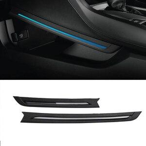 Новый комнатный светильник для Honda Civic 2016, 2017, 2018, внутренний центральный приставка, синий светодиодный атмосферный светильник