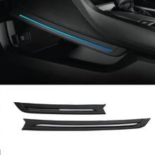 Luz Ambiental para coche, para Honda Civic 2016 2017 2018, consola Central Interior, lámpara de ambiente LED azul