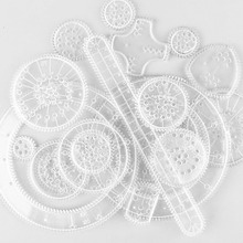 22pcs Curve Gears Hobby Spiral Stationery Drawing Toys Set C