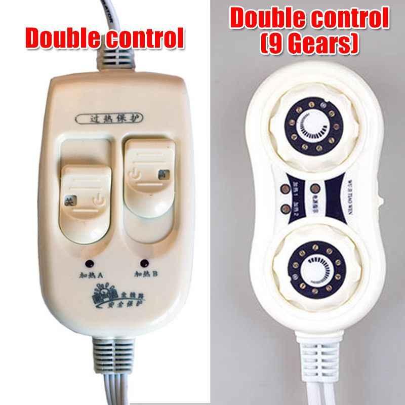 6 Ukuran Bisa Dicuci Selimut Listrik 220V Tahan Air Suhu Adjustable Hangat Pemanas Tempat Tidur USB Bantalan Pemanas Air Hangat Mat Double 110V