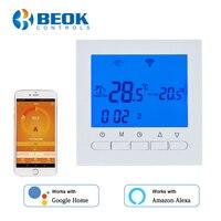 Blue Backlight Hand Control & Wifi Control Thermostat for Gas Boiler Program Energy Save Boiler Heating Temperature Regulator