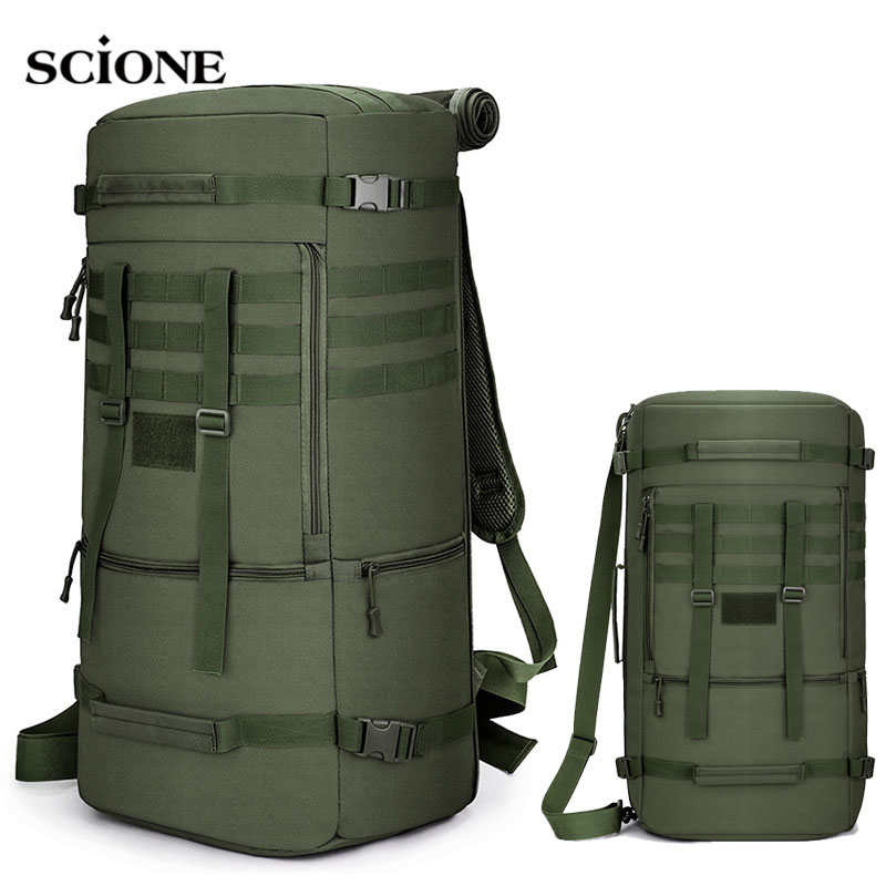 60L 50L Hiking Backpack Camping Bag Tactical Mountaineering Climbing Molle Nylon Army Bags Travel Outdoor Military Bag XA808WA